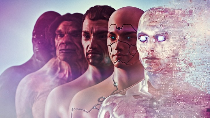 Evolution of man to robot