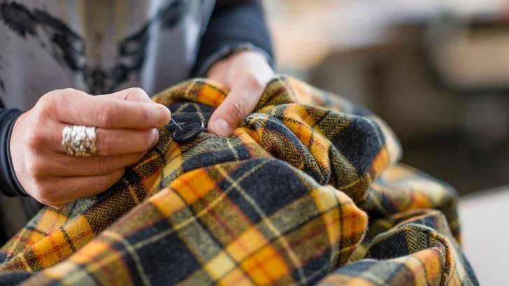 sewing a shirt