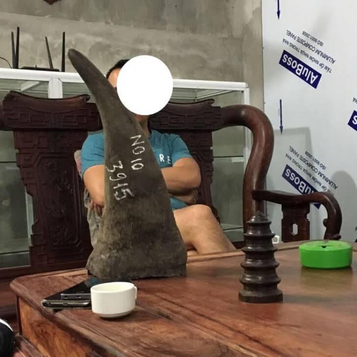 An alleged ivory trader in Vietnam