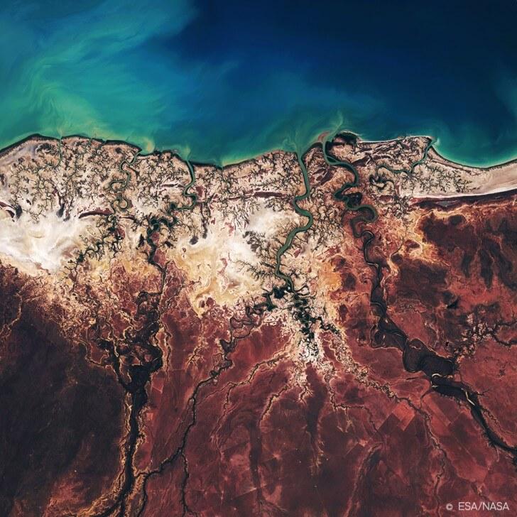The Albert River Delta in Queensland, Australia