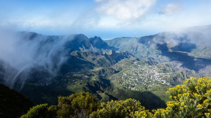 village in volcano