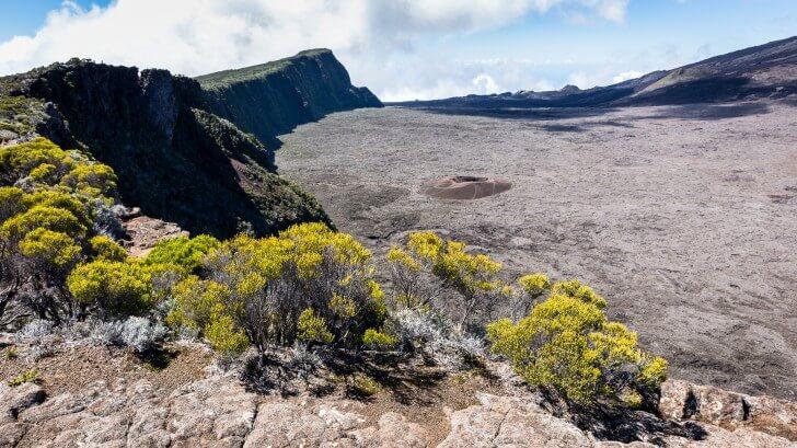 the crater of Piton de la Fournaise