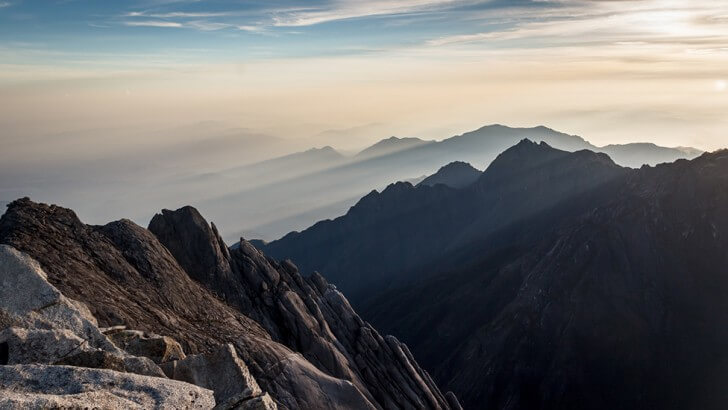 Early morning sunrise at the top of Mt. Kinabalu