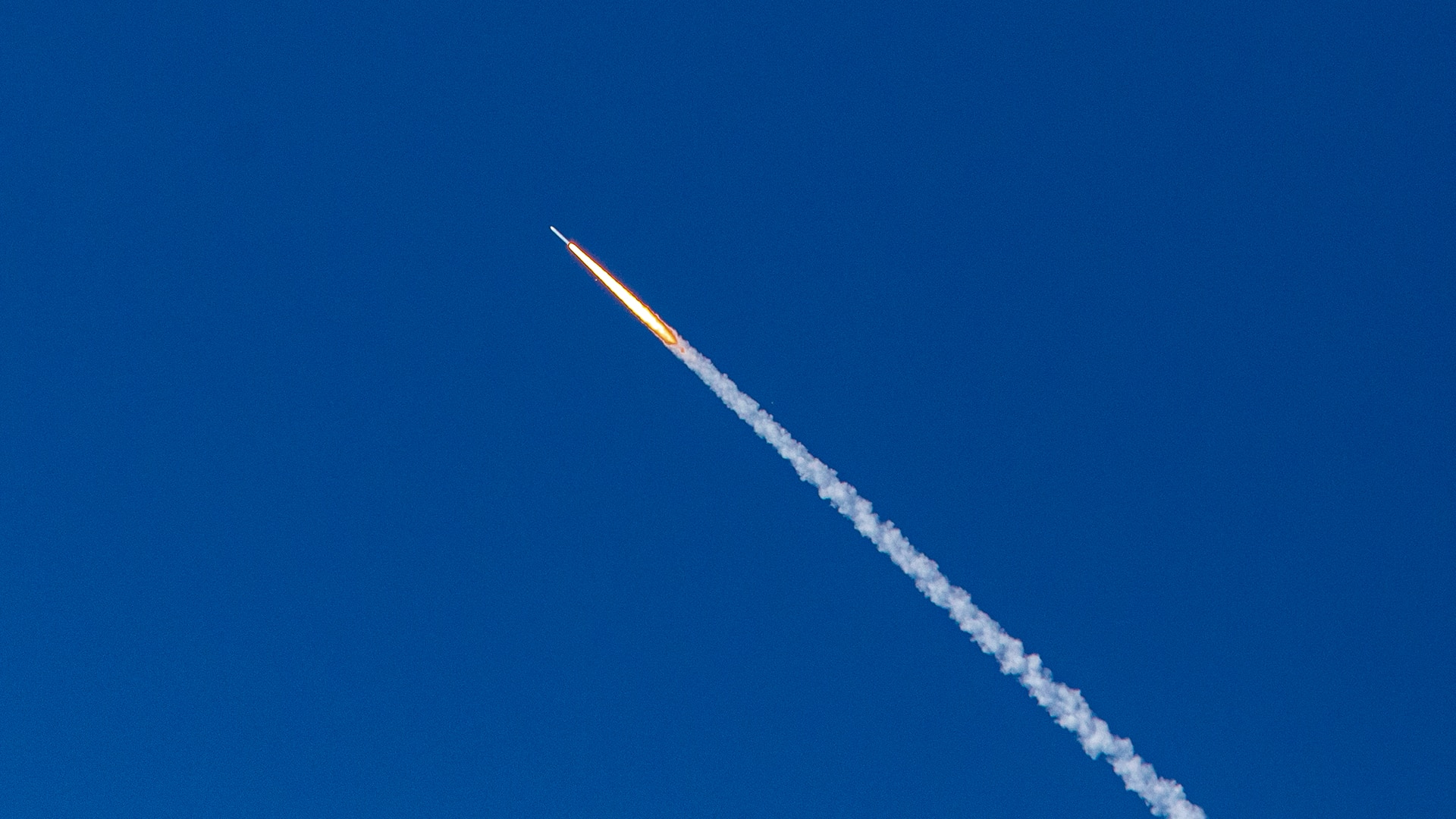 Space rocket in the sky