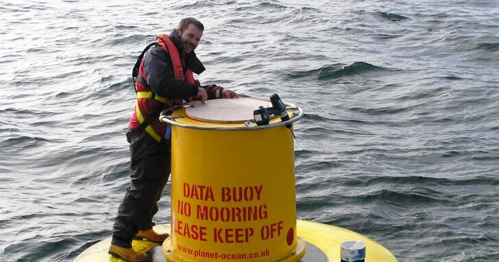 Adam Mellor on research buoy