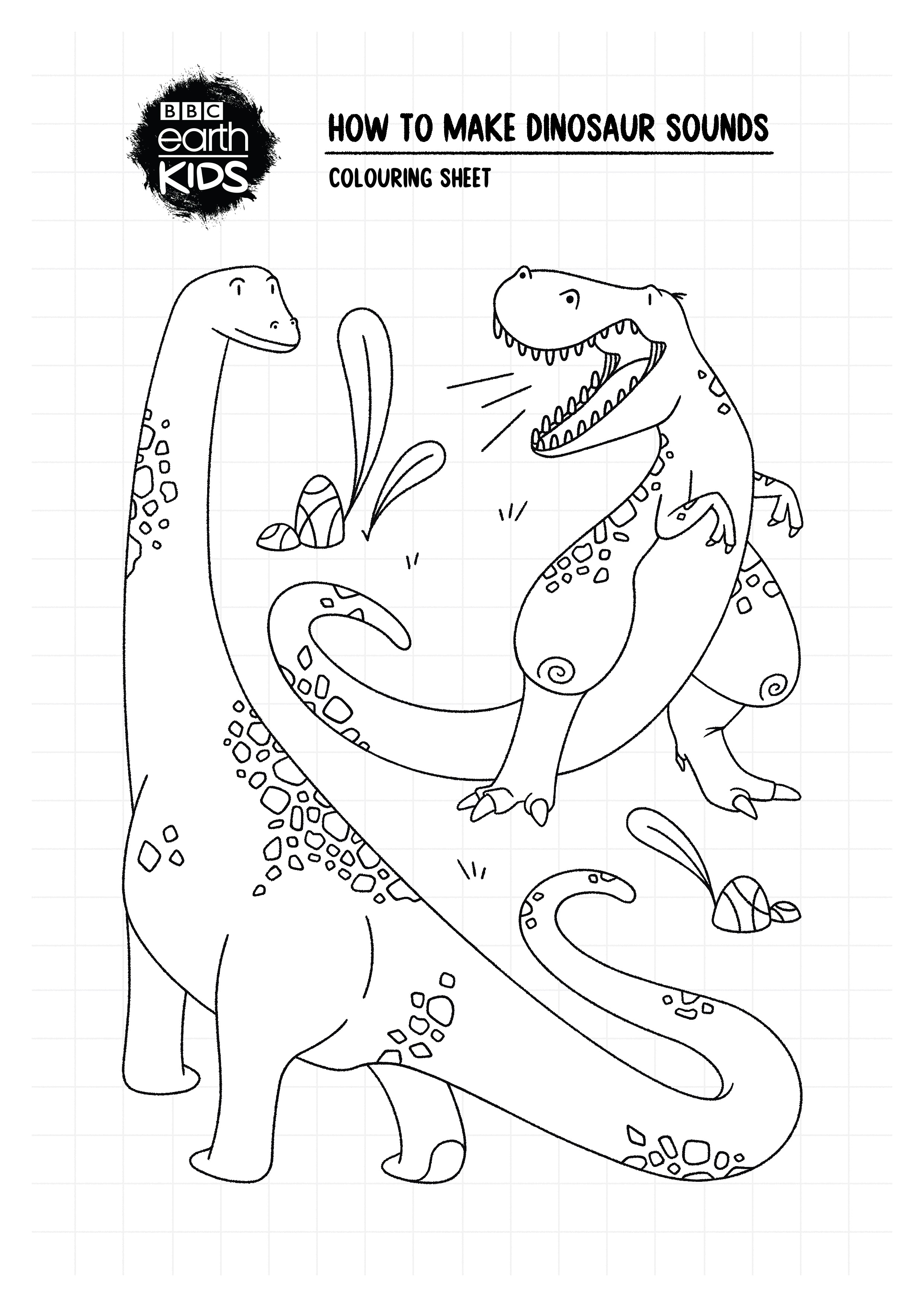 Dinosaur colouring sheet