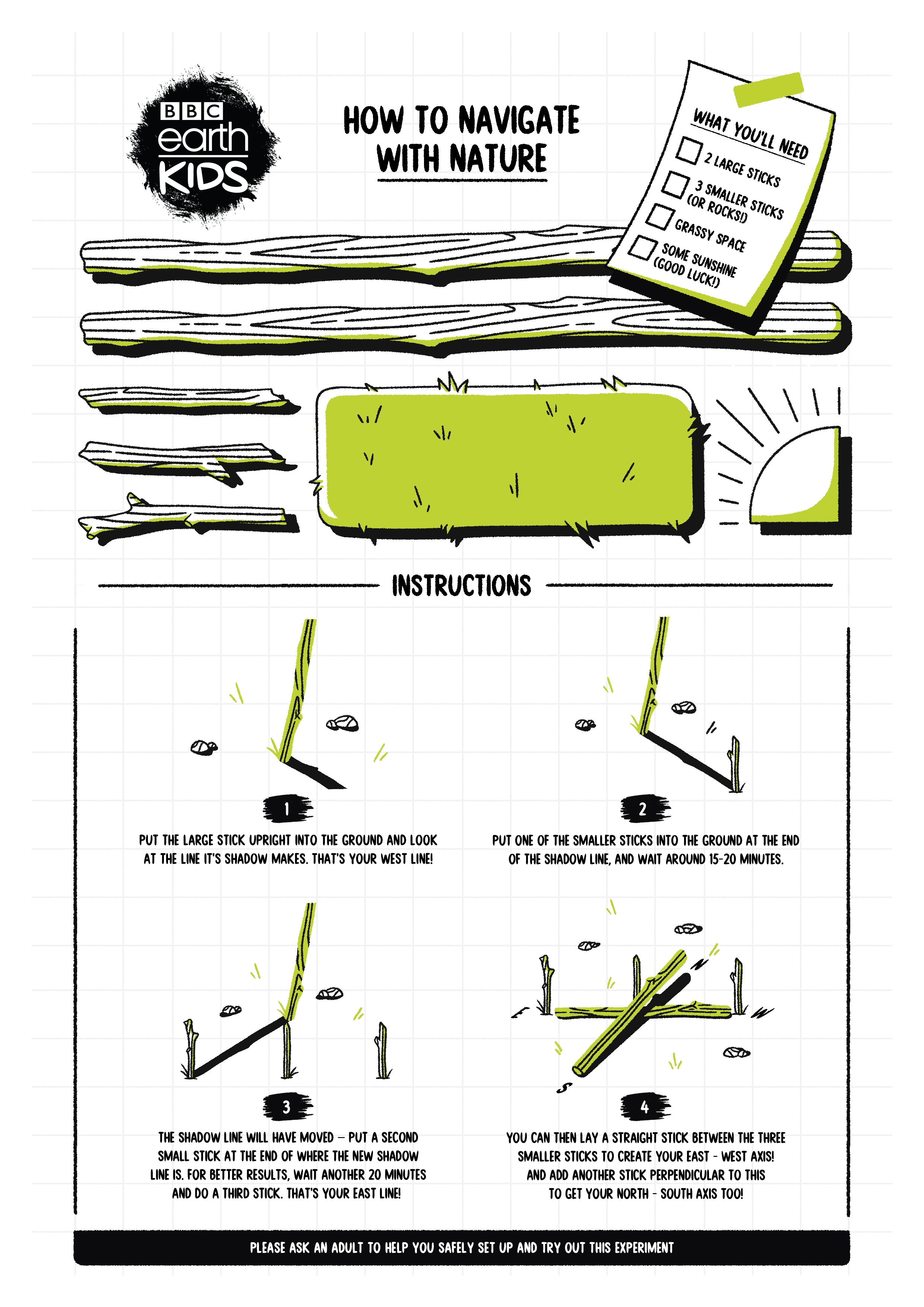 How to navigate with nature worksheet