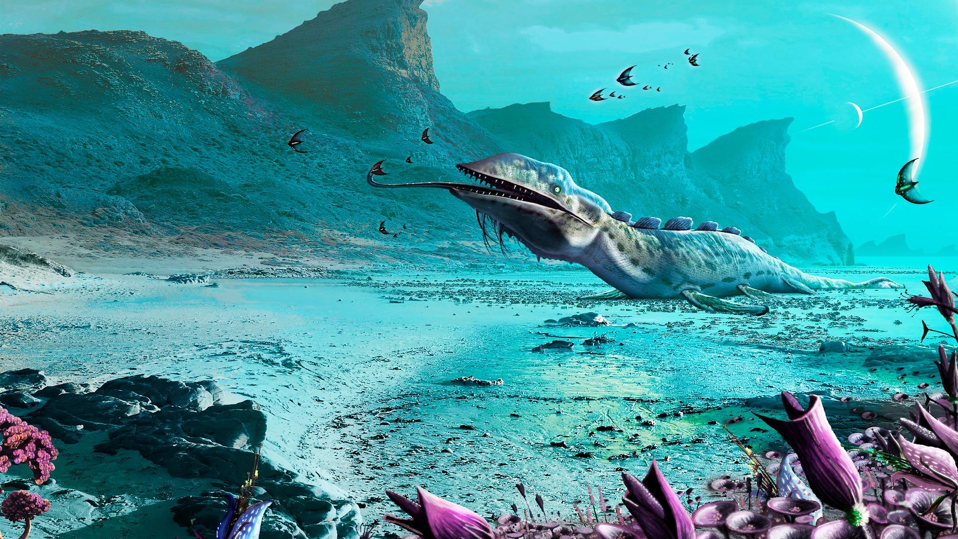 Illustration of alien world